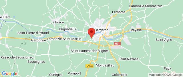 Carte Google Map de la vile de Bergerac