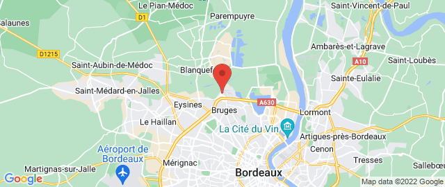 Carte Google Map de la vile de Bruges