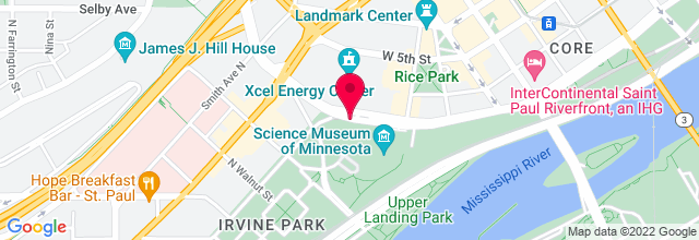 Map for St. Paul River Centre