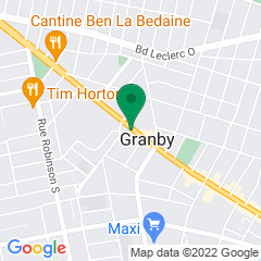 Localisation de la succursale de Valeurs mobilières Desjardins au Granby sur la carte Google