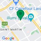 Localisation de la succursale de Valeurs mobilières Desjardins au Laval sur la carte Google