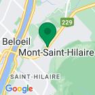 Localisation de la succursale de Valeurs mobilières Desjardins au Mont-Saint-Hilaire sur la carte Google