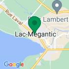 Localisation de la succursale de Valeurs mobilières Desjardins au Lac-Mégantic sur la carte Google