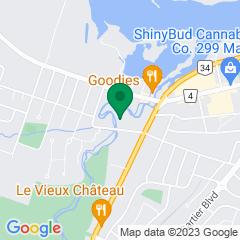 Localisation de la succursale de Valeurs mobilières Desjardins au Hawkesbury sur la carte Google