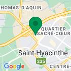 Localisation de la succursale de Valeurs mobilières Desjardins au Saint-Hyacinthe sur la carte Google