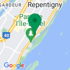 Localisation de la succursale de Valeurs mobilières Desjardins au Repentigny sur la carte Google