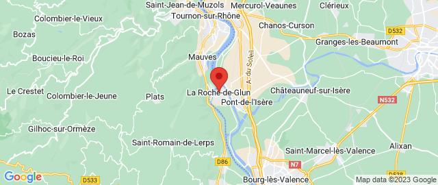 Carte Google Map de la vile de La Roche-de-Glun