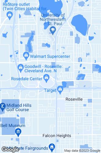 Map of Roseville