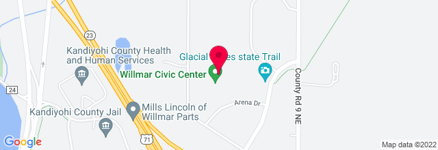 Map for Willmar Civic Center