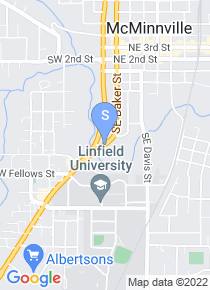 Linfield College map