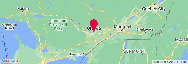 Map of Ottawa, ON, Canada