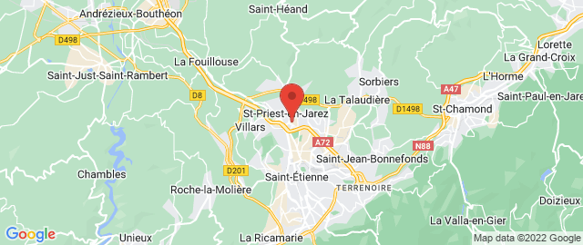 Carte Google Map de la vile de Saint-Priest-en-Jarez