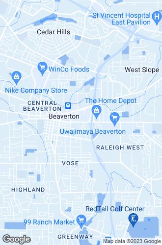 Map of Beaverton
