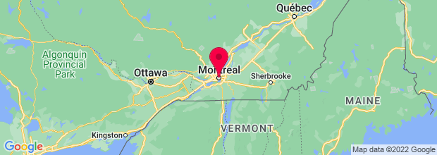 Map of Montreal, QC, Canada