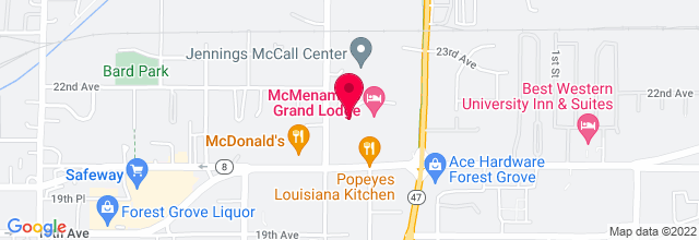 Map for McMenamin's Grand Lodge