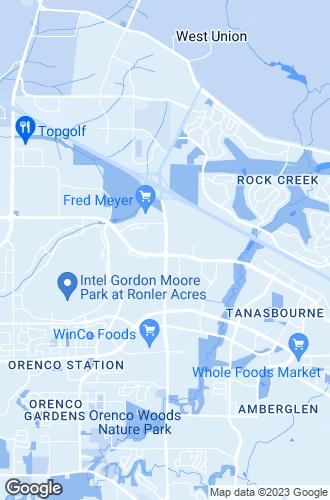 Map of Hillsboro