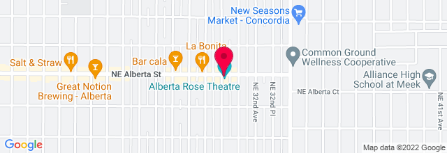 Map for Alberta Rose Theatre