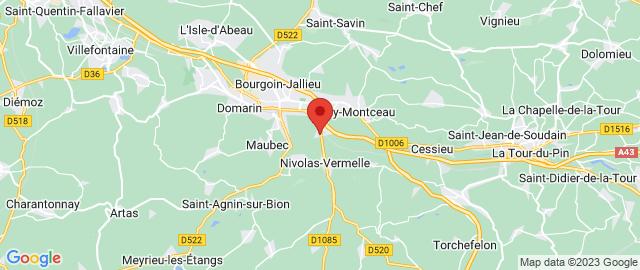Carte Google Map de la vile de Nivolas-Vermelle