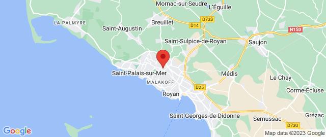 Carte Google Map de la vile de Vaux-sur-Mer