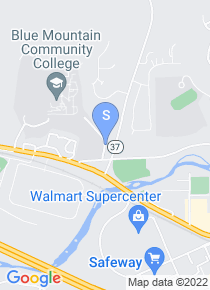 Blue Mountain Community College map