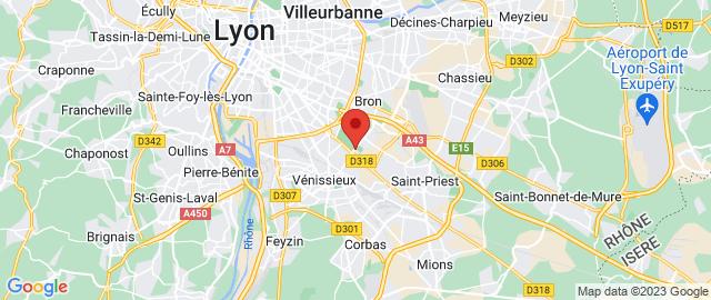 Carte Google Map de la vile de Saint-Priest