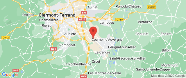 Carte Google Map de la vile de Cournon-d'Auvergne