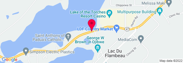 Map for Lake Of Torches Resort Casino