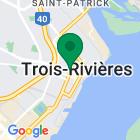 Localisation de la succursale de Valeurs mobilières Desjardins au Trois-Rivières sur la carte Google