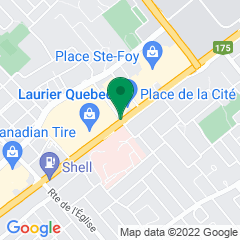 Localisation de la succursale de Valeurs mobilières Desjardins au Québec sur la carte Google
