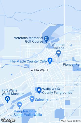 Map of Walla Walla