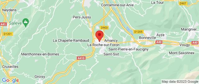 Carte Google Map de la vile de La Roche-sur-Foron