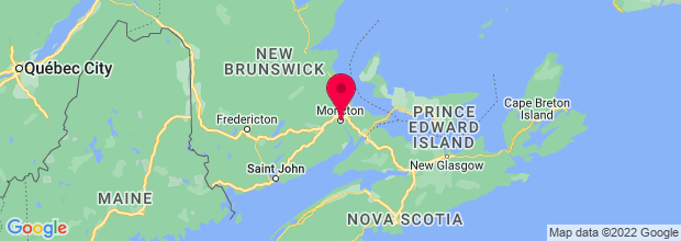 Map of Moncton, NB, Canada