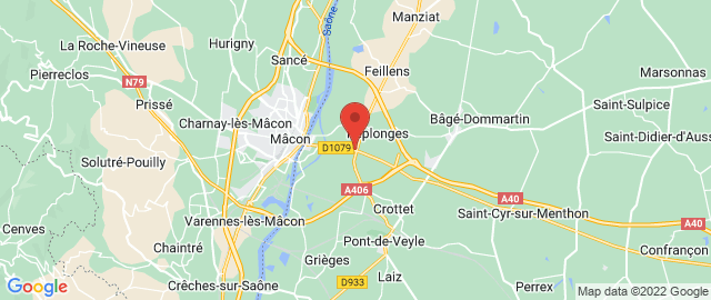 Carte Google Map de la vile de Replonges