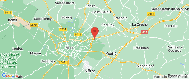 Carte Google Map de la vile de Niort