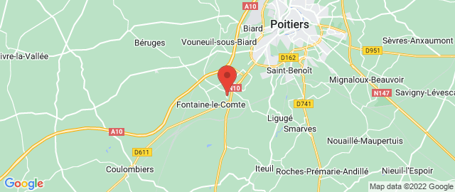 Carte Google Map de la vile de Fontaine-le-Comte