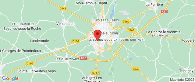 Carte Google Map de la vile de La Roche-sur-Yon