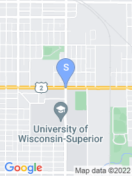 University of Wisconsin Superior map