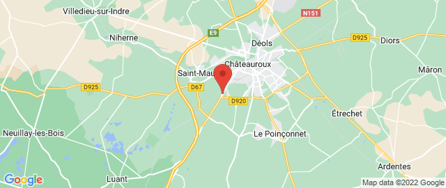 Carte Google Map de la vile de Saint-Maur