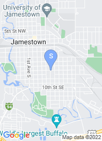Jamestown College map