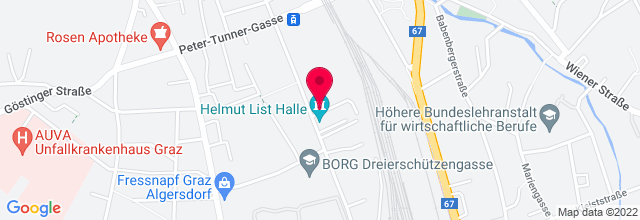 Map for Helmut-List-Halle