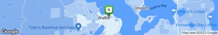 Map of Walker Bay Coffee Co