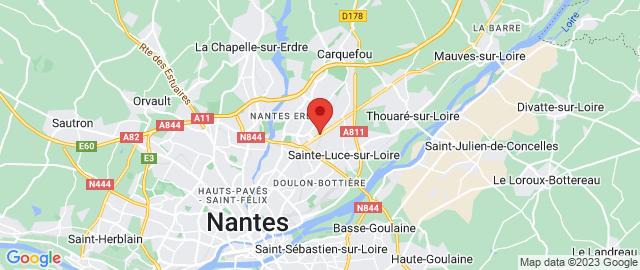 Carte Google Map de la vile de Carquefou