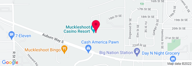 Map for Muckleshoot Casino