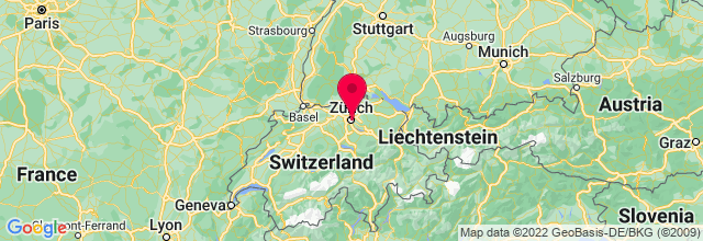 Map of Zürich, Switzerland