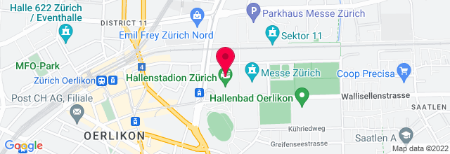 Map for Hallenstadion