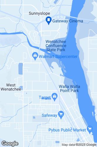 Map of Wenatchee