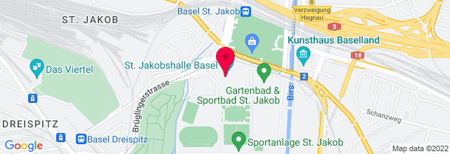 Map for St. Jakobshalle