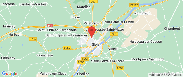 Carte Google Map de la vile de Blois