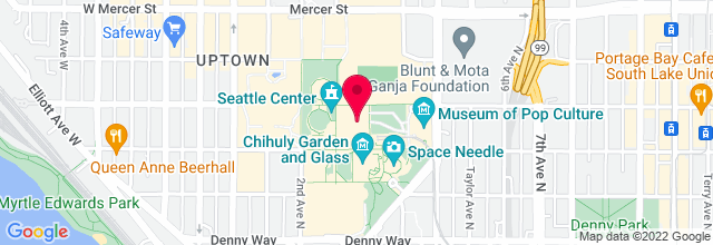 Map for Mural Amphitheater, Seattle Center
