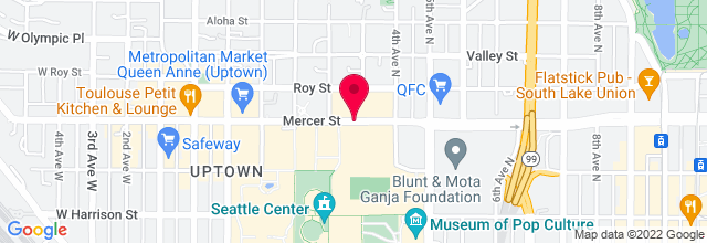 Map for McCaw Hall, Seattle Center
